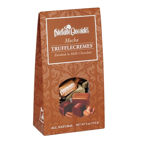 Mocha TruffleCremes In Milk Chocolate Tent Gift Box