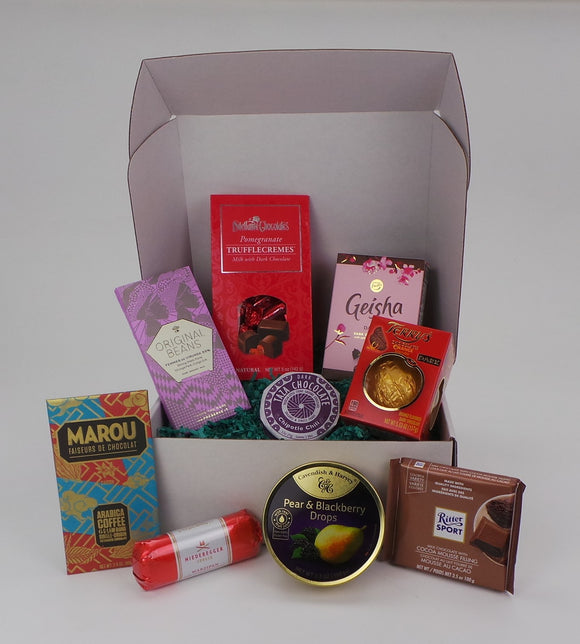 Original Gift Set Large. Assortment of 9 products from multiple brands. Gift packaged. Compiled by Sweet Cloud Gifts, USA.