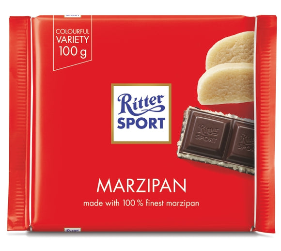 Dark Chocolate With Marzipan Bar. Premium dark chocolate filled with delicate marzipan. Brand: Ritter, Germany.