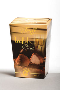 Champagne Cocoa Dusted Truffles Box. Belgian Truffles with Rich, Sensual Flavor. Great gift! Brand: Deli Truff, Belgium.