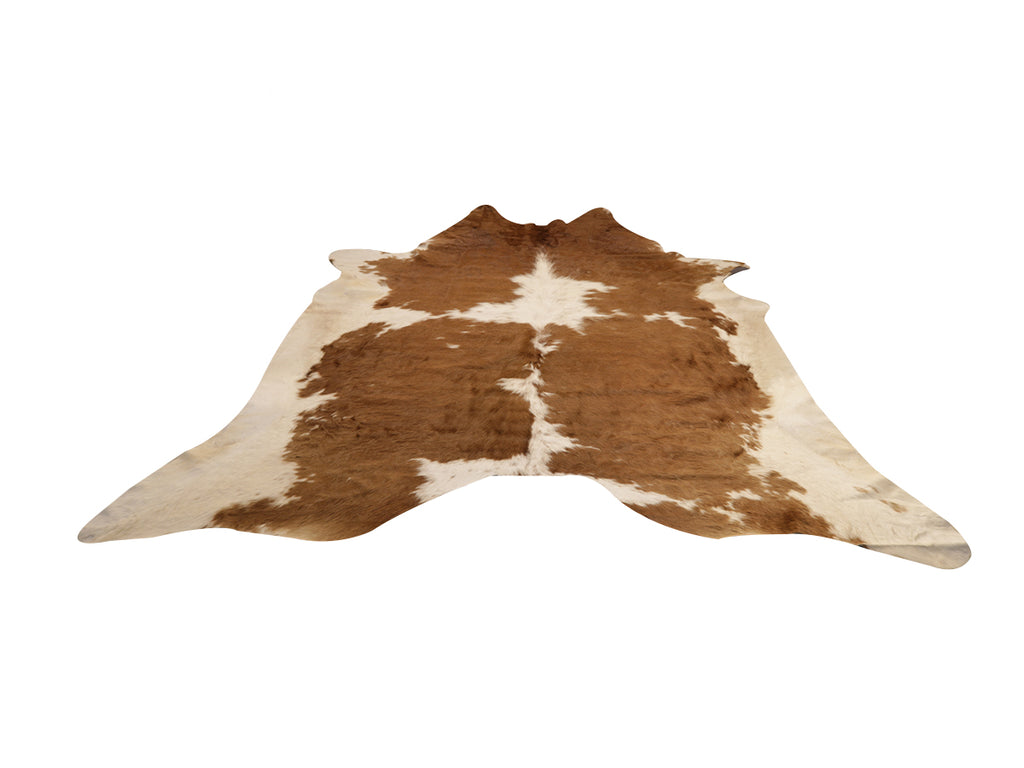 Cowhide Area Rug Brown and White