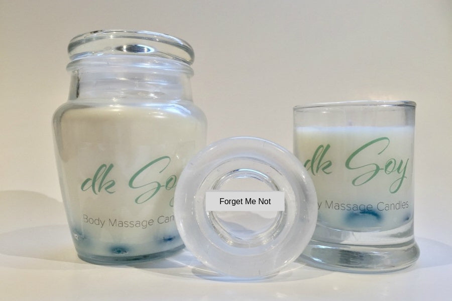 forget me not massage oil candles