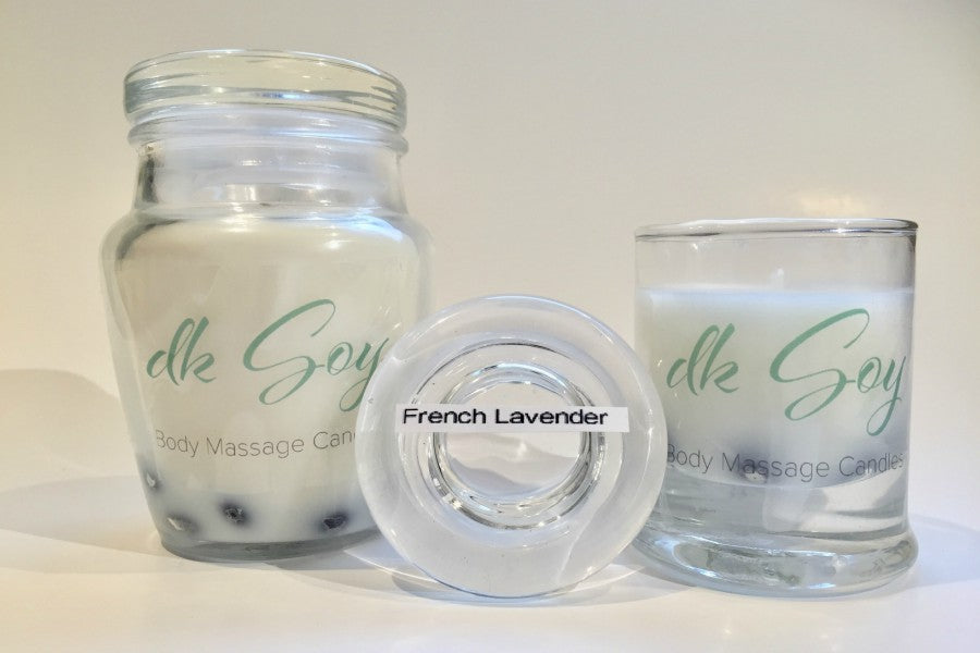 french lavender massage candle