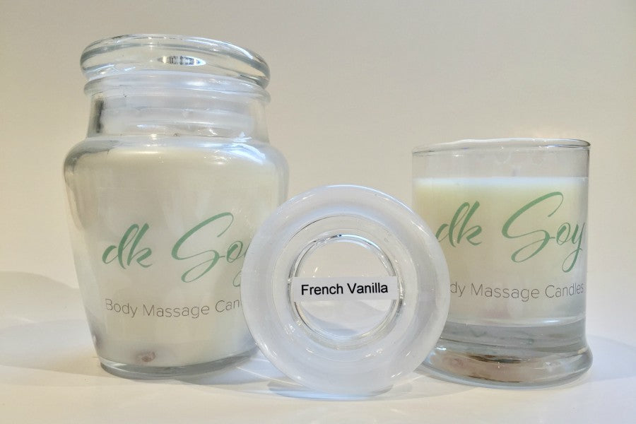 french vanilla massage candles