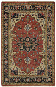 "Feizy Ustad 6112F Red/Black 8'-6"" x 11'-6"" Rectangle Area Rug"
