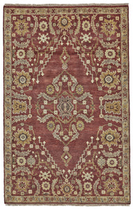 "Feizy Ashi 6128F Rust 5'-6"" x 8'-6"" Rectangle Area Rug"