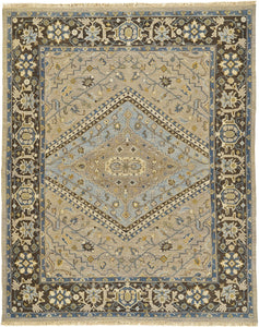 "Feizy Goshen 0640F Smoke / Gray 7'-9"" x 9'-9"" Rectangle Area Rug"