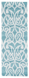 "Feizy Harlow 3329F Teal 2'-10"" X 7'-10"" Rectangle Area Rug"