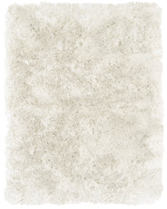 "Feizy Indochine 4550F White 3'-6"" x 5'-6"" Rectangle Area Rug"