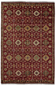 "Feizy Ashi 6129F Red 5'-6"" x 8'-6"" Rectangle Area Rug"