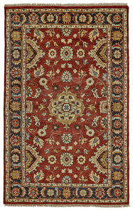 "Feizy Ustad 6110F Red/Black 5'-6"" x 8'-6"" Rectangle Area Rug"