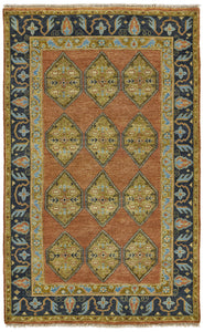 "Feizy Ustad 6111F Rust/Charcoal 8'-6"" x 11'-6"" Rectangle Area Rug"
