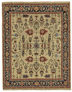 "Feizy Ustad 6109F Camel/Black 9'-6"" x 13'-6"" Rectangle Area Rug"