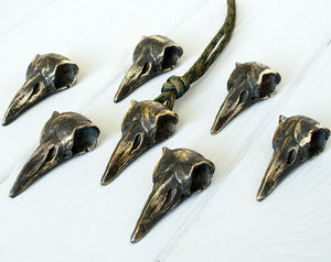 """Dark Raven skull"" metal bead"
