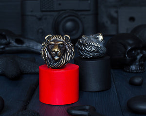 """Lion head"" metal bead"