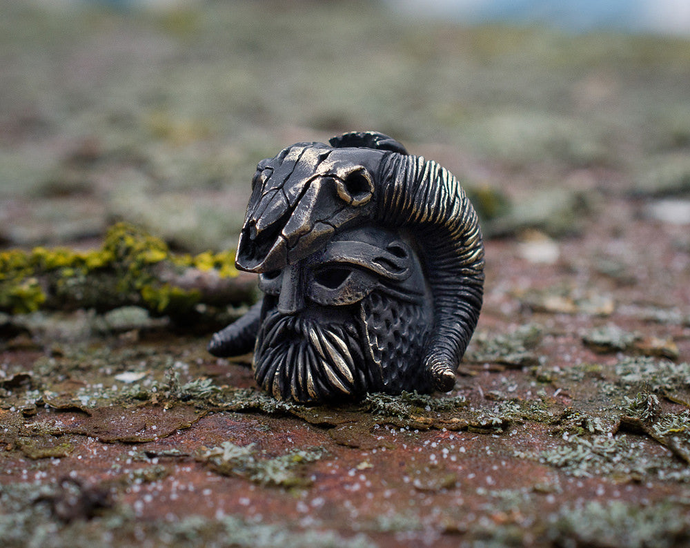 """Viking head"" lanyard bead"