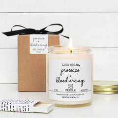 Lulu Sugar, Prosecco + Blood Orange Scented Soy Candle