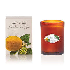 Rosy Rings, Lemon Blossom & Lychee Signature Glass Candle