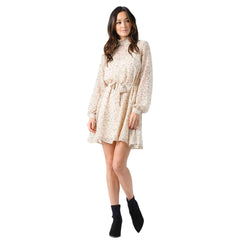 Lucca Couture, Armand Mock Neck L/S Dress
