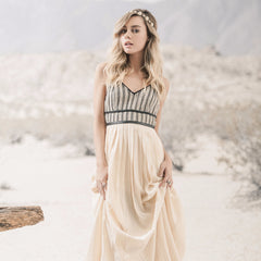 Moon River, Pleated Maxi Dress