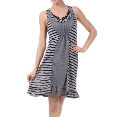 Mystree Stripe Combo Dress with Lace