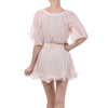Mystree Pleated Chiffon Rose Dress