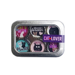 Kate's Magnets, Cat Lover Magnet - Six Pack