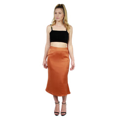 Lucca Couture, Frost Bias Cut Midi Skirt