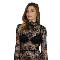 Oh My Love, Jatropha High Neck Lace Bodysuit