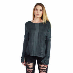NYTT, Rayon Split Cuff Long Sleeve Top