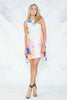 Finders Keepers, Same Direction Dress in Print/Ivory