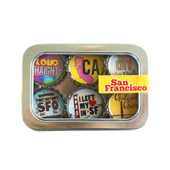 Kate's Magnets, San Francisco Magnet - Six Pack