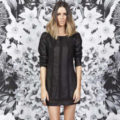 Finders Keepers, Turning Tables Long Sleeve Dress