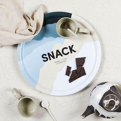 Swedish Words Tray - SNACK ø39cm