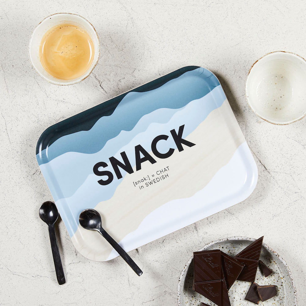 Swedish Words Tray - SNACK 27x20cm