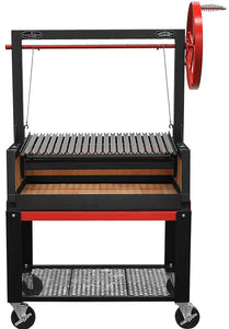 "Bbq Pit Boys Argentine Grill 36"" w/Fire Brick, Grill Head & Firebox, Cart, Single Grate"
