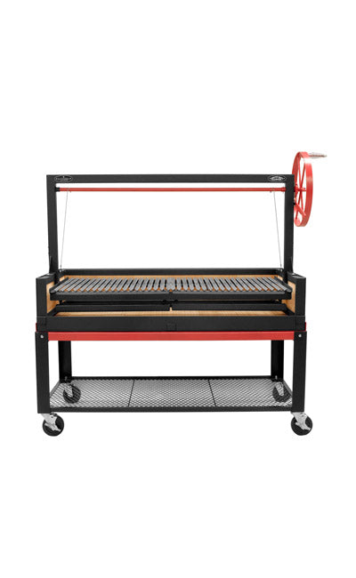 "Bbq Pit Boys Argentine Grill 60"" w/Fire Brick, Grill Head & Firebox, Cart, Single Grate ARG-60DSICRT"
