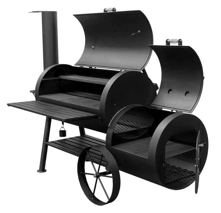Bbq Pit Boys Offset Smoker Wood & Charcoal Burning #2401 Colossus - 2064 Sq. In. Surface w/Firebox