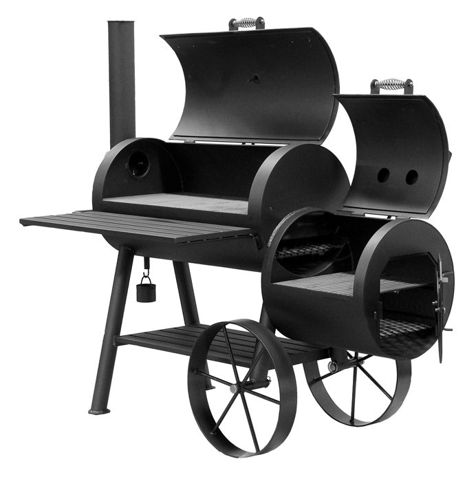 Bbq Pit Boys Offset Smoker Wood & Charcoal Burning #1801 Denali