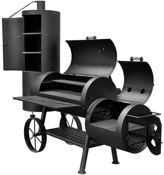 Bbq Pit Boys Offset Smoker Wood & Charcoal Burning Item #2075 Big Ben - 2121 Sq. In