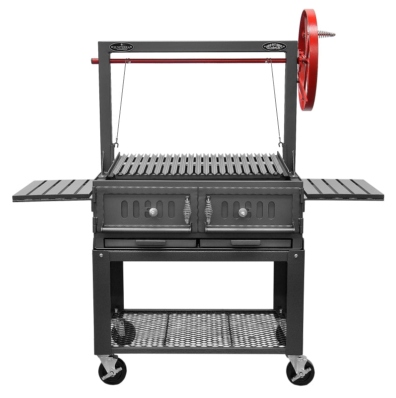 "Bbq Pit Boys Santa Maria 36"" w/Fire Brick, Grill Head, Firebox & Cart, single Door, Single Grate - 3601-36DSICRT"