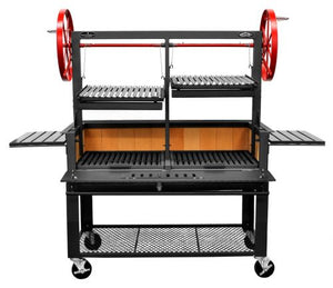 "Bbq Pit Boys Santa Maria 48"" w/Fire Brick, Grill Head, Firebox & Cart, Double Door, Double Grate -3601-48DSPLCRT"
