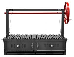"Bbq Pit Boys Santa Maria 48"" w/Fire Brick, Grill Head & Firebox, single Door, Single Grate 3601-48DSPL"