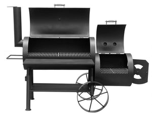 "Bbq Pit Boys Offset Smoker 20"" Wood & Charcoal Burning 2001 Yosemite - 1093 Sq"