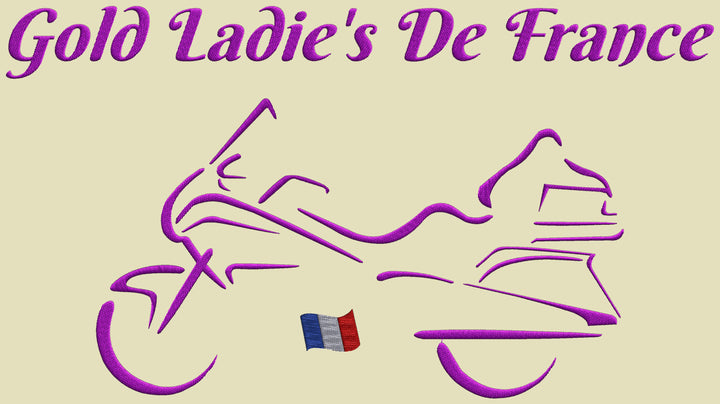 Broderie dos Gold Ladie's de France