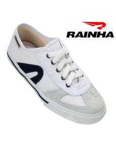 RAINHA Capoeira & Martial Arts Shoes - White-Navy Blue - Unisex Adult & Kids - ZumZum Capoeira Shop