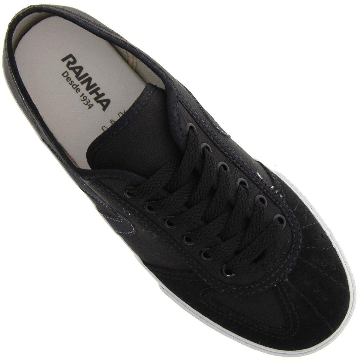 RAINHA Tennis Capoeira and Martial Arts Shoes - VL2500 - Black with Grey - ZumZum Capoeira Shop