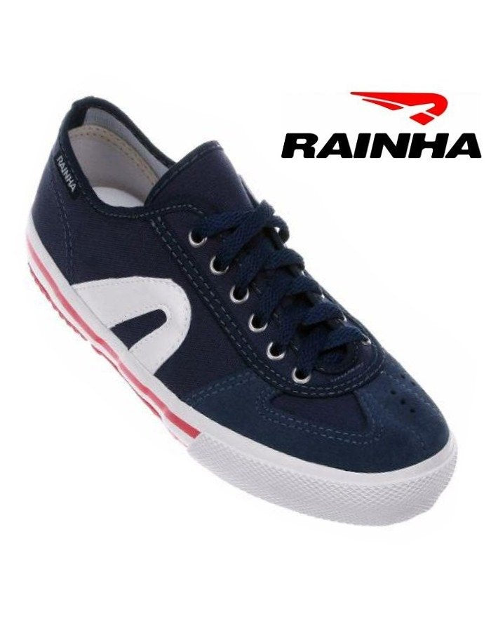 RAINHA Capoeira Shoes - Navy Blue-White-Red - Adults and Kids - ZumZum Capoeira Shop