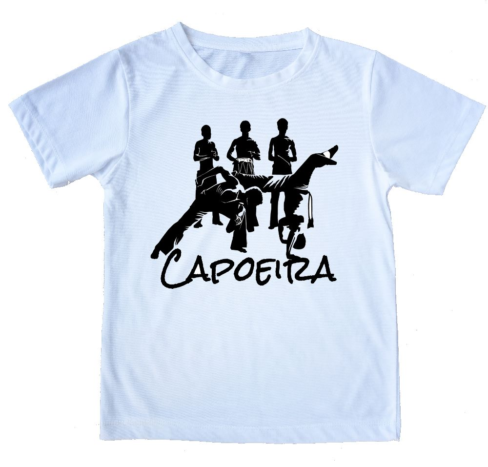 "Printed Capoeira T-Shirt - ""Loca Roda"" - Unisex Adult and Kids - ZumZum Capoeira Shop"