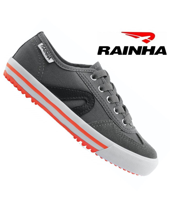 NEW! Rainha Kids - Capoeira Shoes - Grey-Black-Orange - ZumZum Capoeira Shop
